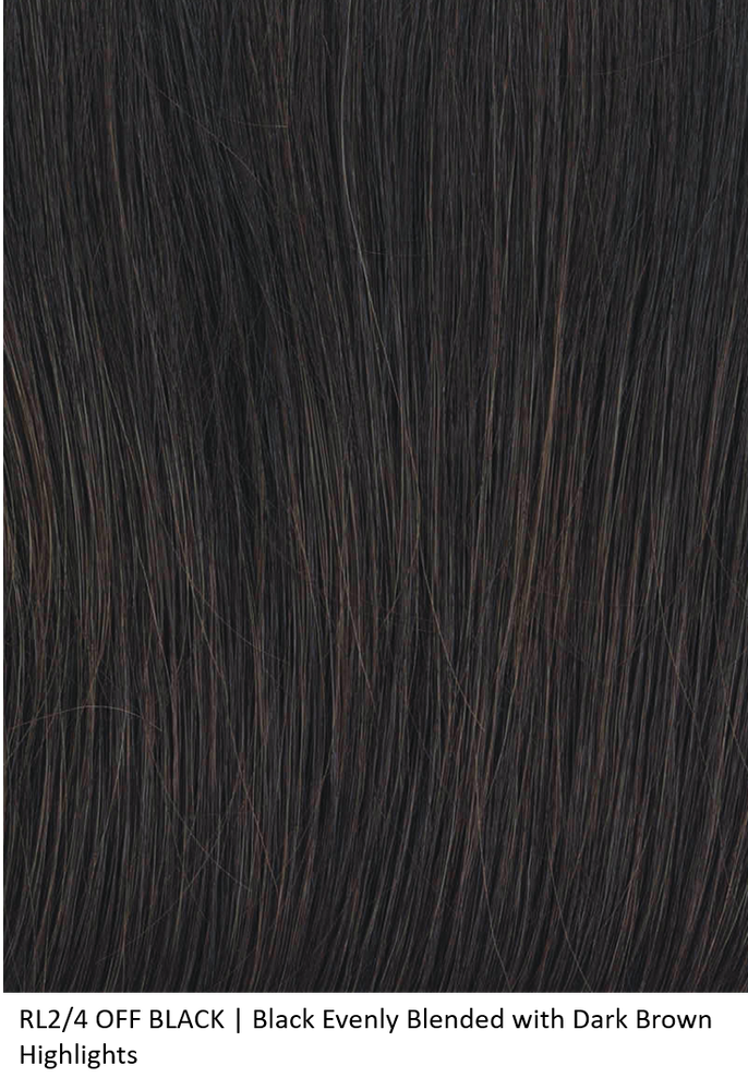 RL2/4 OFF BLACK | Black Evenly Blended with Dark Brown Highlights by Raquel Welch