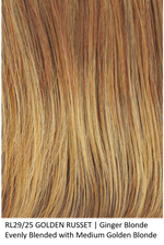 RL29/25 GOLDE RUSSET | Ginger Blonde Evenly Blended with Medium Golden Blonde