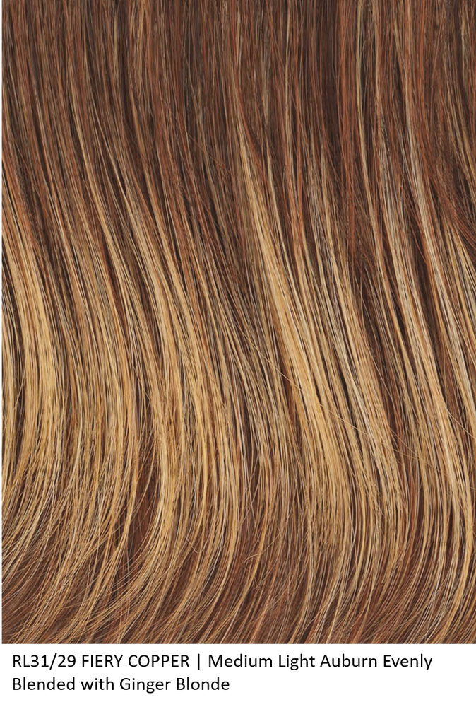 RL31/29 FIERY COPPER | Medium Light Auburn Evenly Blended with Ginger Blonde