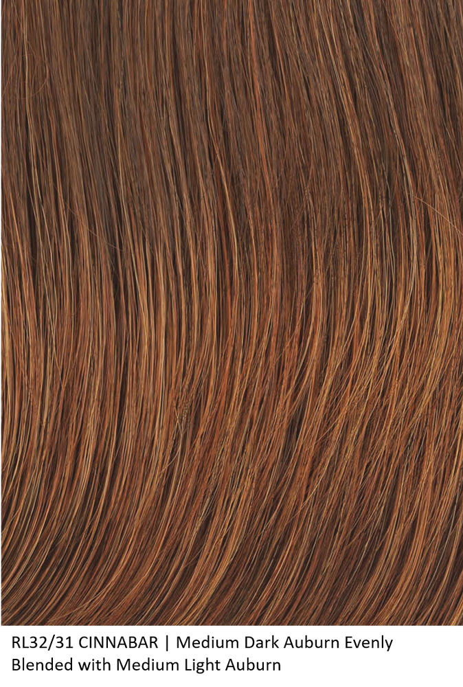 RL32/31 CINNABAR | Medium Dark Auburn Evenly Blended with Medium Light Auburn by Raquel Welch
