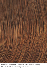 RL32/31 CINNABAR | Medium Dark Auburn Evenly Blended with Medium Light Auburn