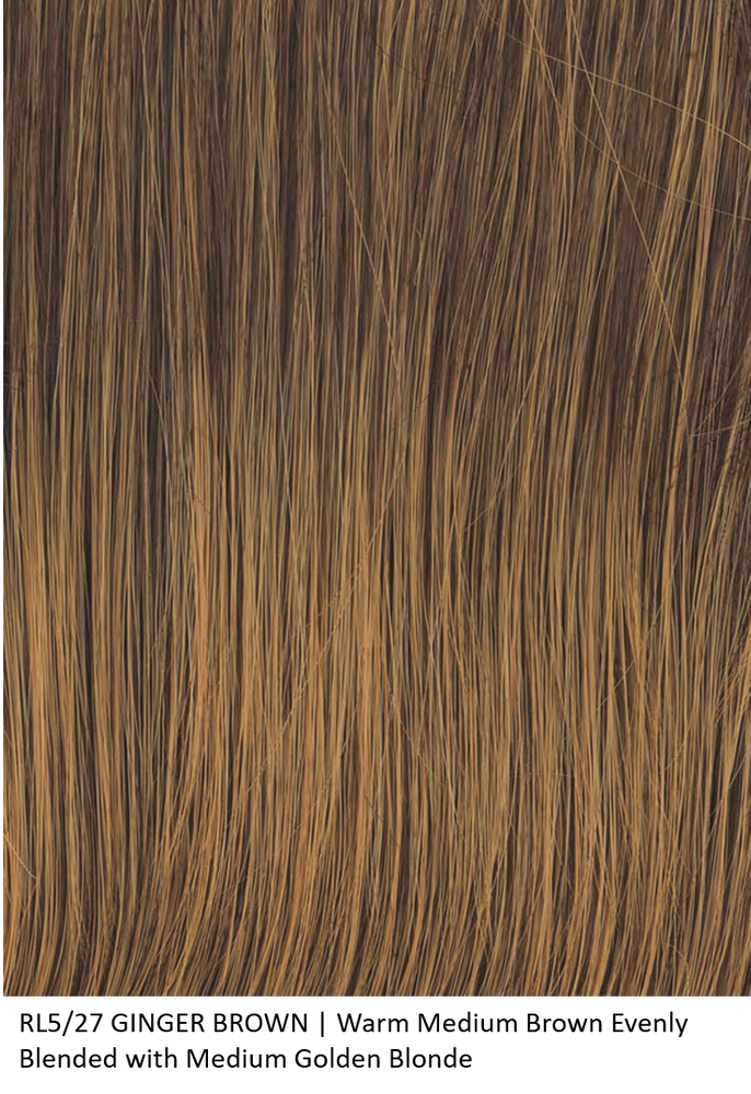 RL5/27 GINGER BROWN | Warm Medium Brown Evenly Blended with Medium Golden Blonde by Raquel Welch