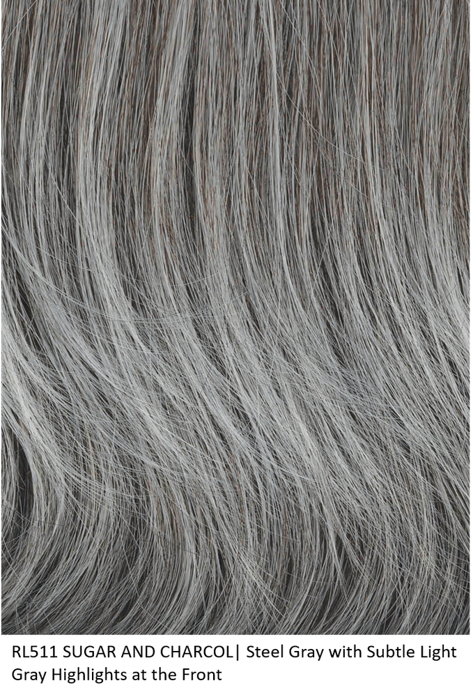 RL511 SUGAR AND CHARCOL | Steel Gray with Subtle Light Gray Highlights at the Front