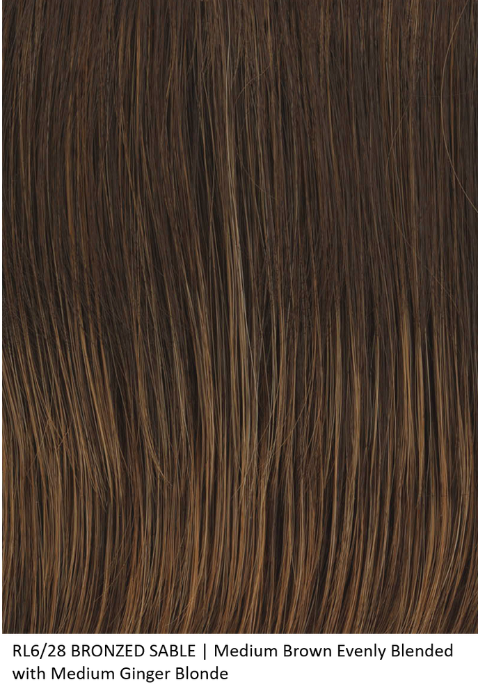 RL6/28 BRONZE SABLE | Medium Brown Evenly with Medium Ginger Blonde