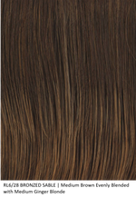 RL6/28 BRONZED SABLE | Medium Brown Evenly Blended with Medium Ginger Blonde by Raquel Welch