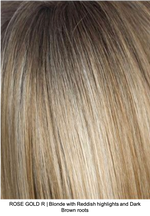 ROSE GOLD R | Blonde with Reddish highlights and Dark Brown roots