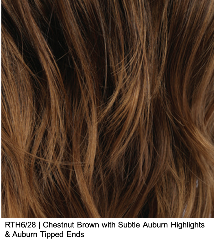 RTH6/28 | Chestnut Brown with Subtle Auburn Highlights & Auburn Tipped Ends