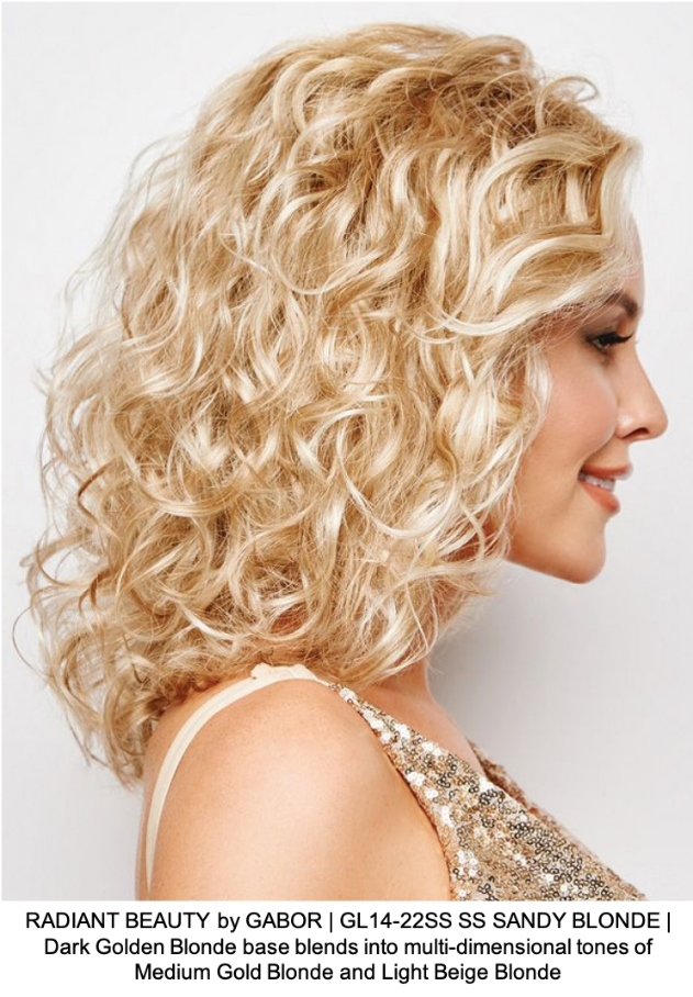 RADIANT BEAUTY by GABOR | GL14-22SS SS SANDY BLONDE | Dark Golden Blonde base blends into multi-dimensional tones of Medium Gold Blonde and Light Beige Blonde