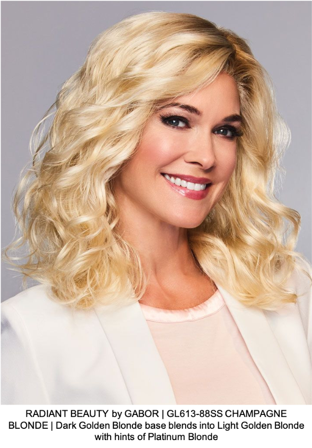 RADIANT BEAUTY by GABOR | GL613-88SS CHAMPAGNE BLONDE | Dark Golden Blonde base blends into Light Golden Blonde with hints of Platinum Blonde
