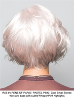 RAE by RENE OF PARIS | PASTEL PINK | Cool Silver Blonde front and base with subtle Whisper Pink highlights