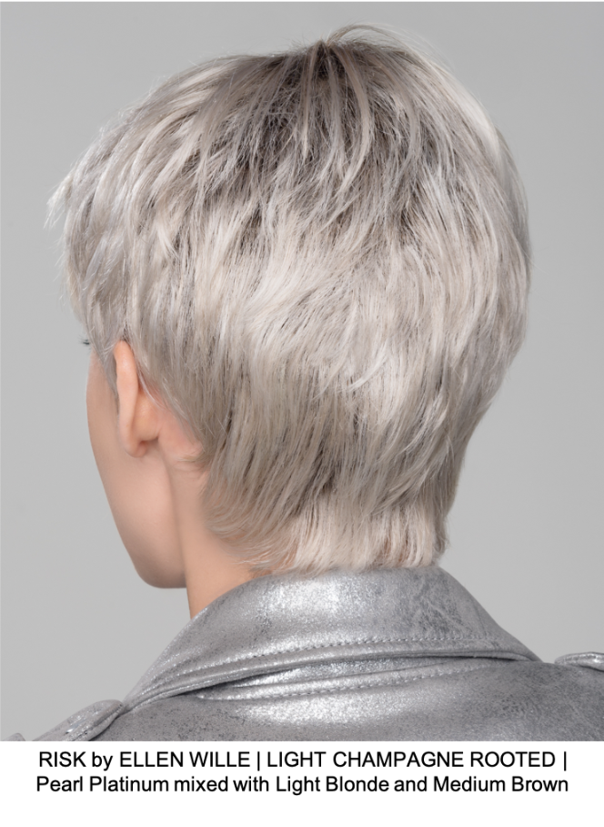 RISK by ELLEN WILLE | LIGHT CHAMPAGNE ROOTED | Pearl Platinum mixed with Light Blonde and Medium Brown