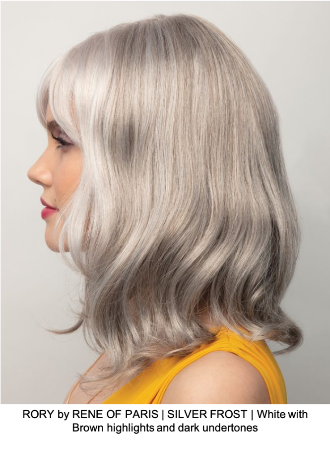 RORY by RENE OF PARIS | SILVER FROST | White with Brown highlights and dark undertones