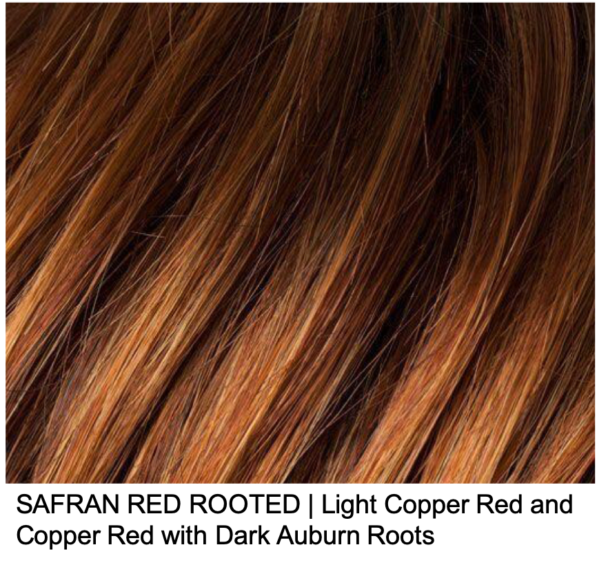 SAFRAN RED ROOTED | Light Copper Red and Copper Red with Dark Auburn Roots