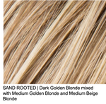 SAND ROOTED | Dark Golden Blonde mixed with Medium Golden Blonde and Medium Beige Blonde