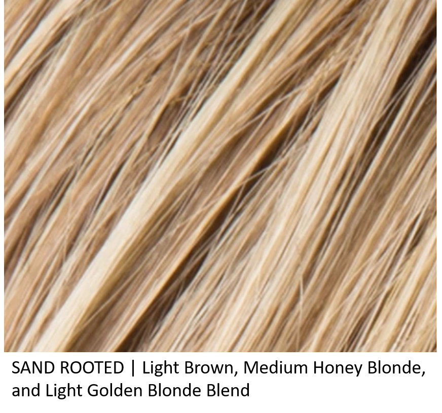 SAND ROOTED | Light Brown, Medium Honey Blonde, and Light Golden Blonde Blend