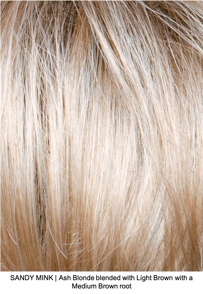 SANDY MINK | Ash Blonde blended with Light Brown with a Medium Brown root