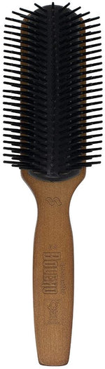 Bolero Men's Flared Nylon Bristle 9 Row Styler Hair Brush