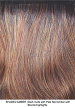 SHADED AMBER | Dark roots with Pale Red Amber with Blonde highlights