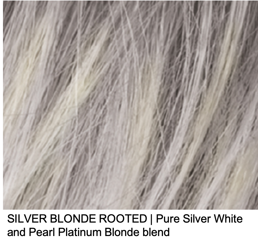 SILVER BLONDE ROOTED | Pure Silver White and Pearl Platinum Blonde blend
