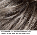 SILVER ROOTED | Pure Silver White and Pearl Platinum Blonde Blend and Dark Brown Roots