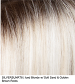 SILVERSUNRT8 | Iced Blonde nw/ Soft Sand & Golden Brown Roots
