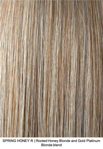 SPRING HONEY R | Rooted Honey Blonde and Gold Platinum Blonde blend