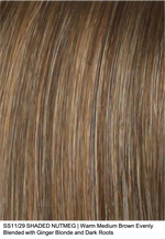 SS11/29 SHADED NUTMEG | Warm Medium Brown Evenly Blended with Ginger Blonde and Dark Roots