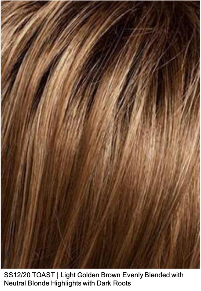 SS12/20 TOAST | Light Golden Brown Evenly Blended with Neutral Blonde Highlights with Dark Roots