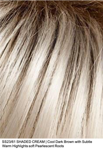 SS23/61 SHADED CREAM | Cool Dark Brown with Subtle Warm Highlights soft Pearlescent Roots