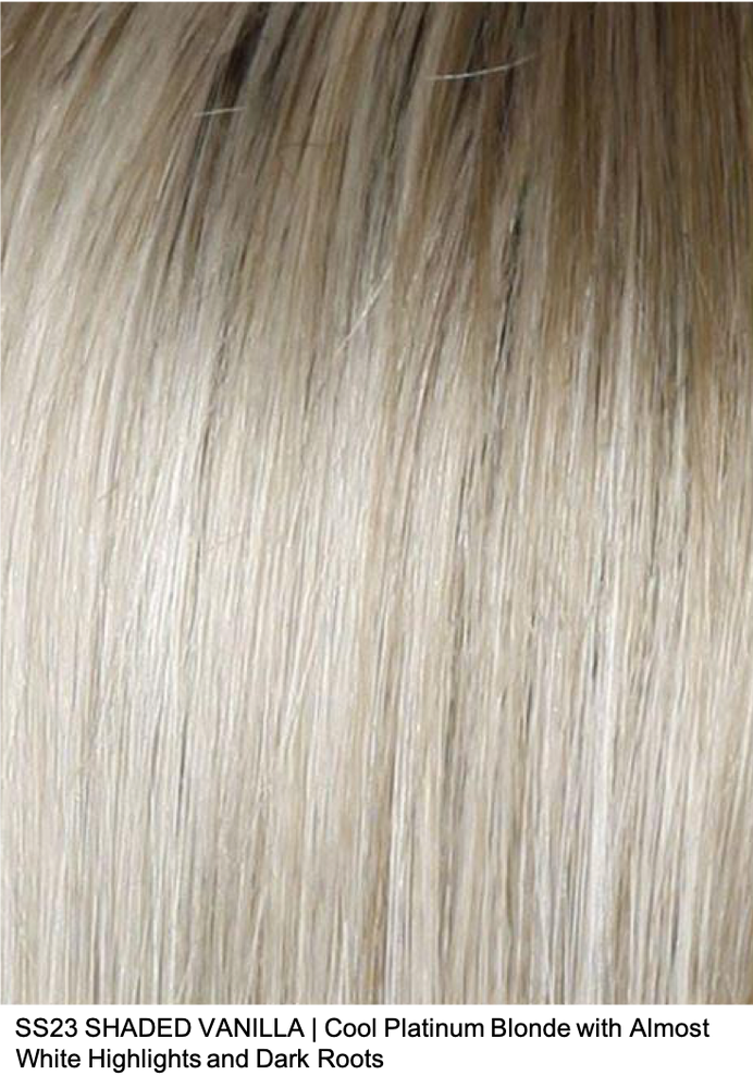SS23 VANILLA | Cool Platinum Blonde with Almost White Highlights and Dark Roots