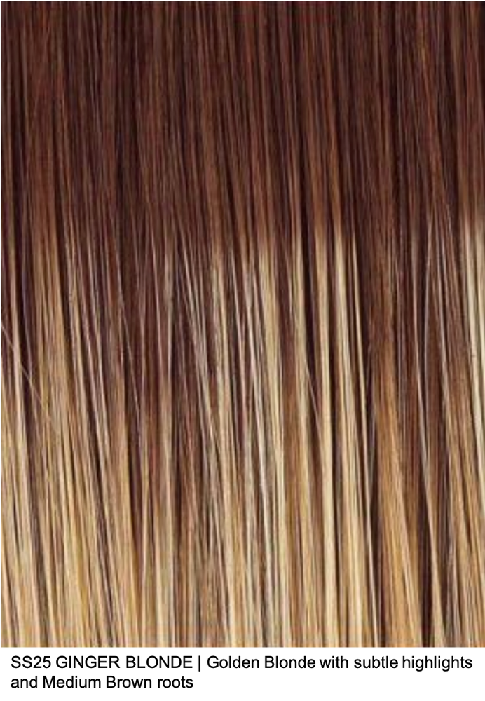 SS25 GINGER BLONDE | Golden Blonde with subtle highlights and Medium Brown roots