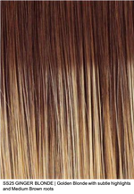 SS25 GINGER BLONDE | Ginger Blonde with subtle highlights and Medium Brown roots