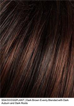 SS4/33 EGGPLANT | Dark Brown Evenly Blended with Dark Auburn and Dark Roots