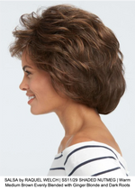 SALSA by RAQUEL WELCH | SS11/29 SHADED NUTMEG | Warm Medium Brown Evenly Blended with Ginger Blonde and Dark Roots