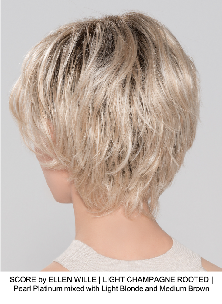 SCORE by ELLEN WILLE | LIGHT CHAMPAGNE ROOTED | Pearl Platinum mixed with Light Blonde and Medium Brown