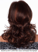 SELENA by ENVY | DARK RED | Auburn with Brighter Red highlights