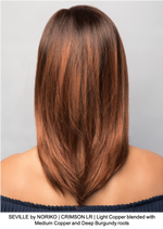 SEVILLE by NORIKO | CRIMSON LR | Light Copper blended with Medium Copper and Deep Burgundy roots