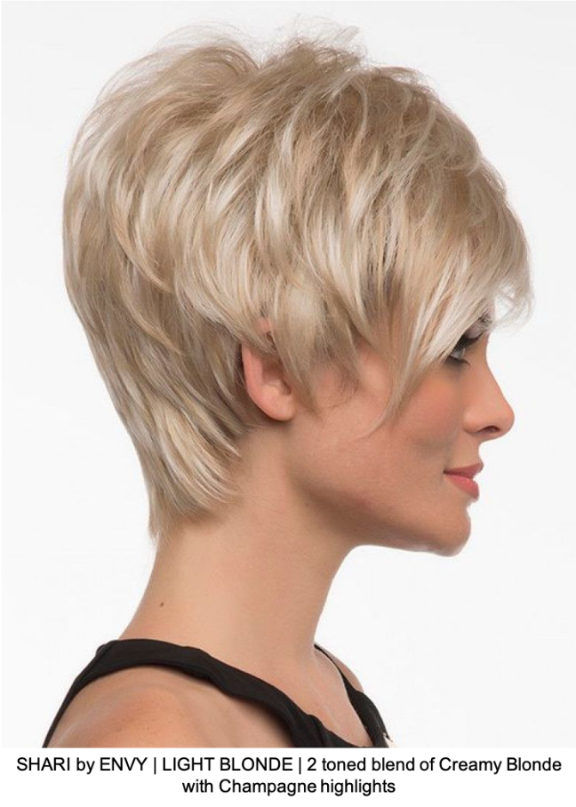 SHARI by ENVY | LIGHT BLONDE | 2 toned blend of Creamy Blonde with Champagne highlights