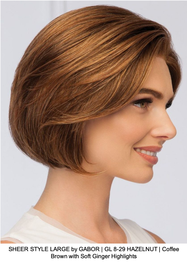 SHEER STYLE LARGE by GABOR | GL 8-29 HAZELNUT | Coffee Brown with Soft Ginger Highlights