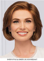 Sheer Style Synthetic Lace Front Wig (Mono Part)