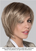 SHINE COMFORT by ELLEN WILLE | SAND MIX | Light Brown, Medium Honey Blonde, and Light Golden Blonde blend