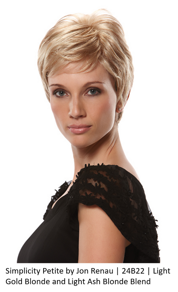 Simplicity Petite by Jon Renau | 24B22 | Light Gold Blonde and Light Ash Blonde Blend