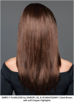 SIMPLY FLAWLESS by GABOR | GL 6-30 MAHOGANY | Dark Brown with soft Copper Highlights