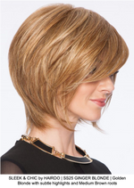 SLEEK & CHIC by HAIRDO | SS25 GINGER BLONDE | Golden Blonde with subtle highlights and Medium Brown roots