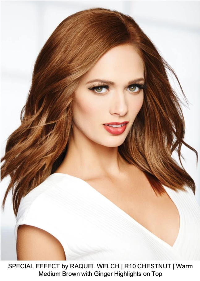 SPECIAL EFFECT by RAQUEL WELCH | R10 CHESTNUT | Warm Medium Brown with Ginger Highlights on Top
