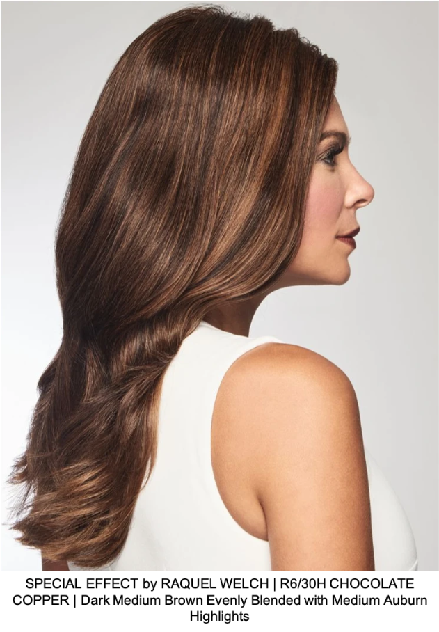 SPECIAL EFFECT by RAQUEL WELCH | R6/30H CHOCOLATE COPPER | Dark Medium Brown Evenly Blended with Medium Auburn Highlights