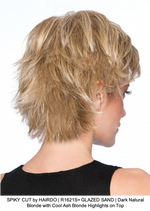 SPIKY CUT by HAIRDO | R1621S+ GLAZED SAND | Dark Natural Blonde with Cool Ash Blonde Highlights on Top