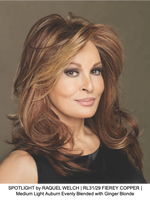 SPOTLIGHT by RAQUEL WELCH | RL31/29 FIEREY COPPER | Medium Light Auburn Evenly Blended with Ginger Blonde