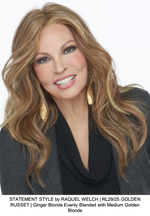 STATEMENT STYLE by RAQUEL WELCH | RL29/25 GOLDEN RUSSET | Ginger Blonde Evenly Blended with Medium Golden Blonde
