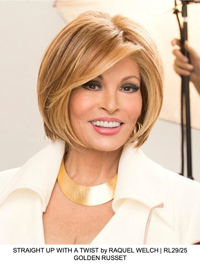 STRAIGHT UP WITH A TWIST by RAQUEL WELCH | RL29/25 GOLDEN RUSSET